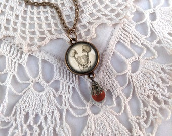 Siamese Twin Skeletons Pendant Necklace