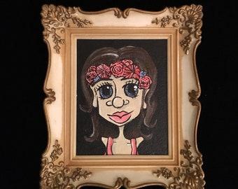 Flower Crown, Original Acrylic Painting