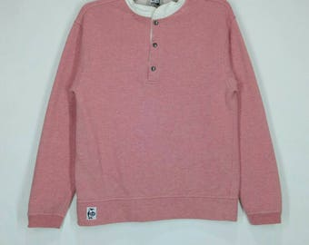 Rare!! CHUMS sweatshirt nice design pull over jumper snap button small size