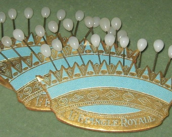 Antique French hat/corsage pins