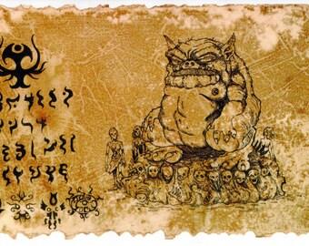 The Codex Tsathoggua - Lovecraft prop LARP cthulhu