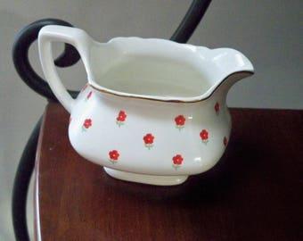 Vintage Home Dining Blushing Rose Creamer Pitcher W.S. George 1940 Dinnerware