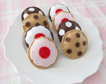 Chocolate Chip and Cherry Cookies Tea Party Set of 8 Cookies