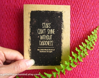 Stars Notebook Mini Journal 62 - Little Black Notebook of Darkness and Light - Pocket Diary