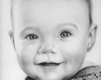 CUSTOM PORTRAIT, Christmas Gift, Realistic Family Portrait, Birthday Gift, Special Gift, Wedding Gift, Family Gift, Anniversary Gift