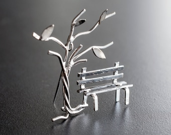 Brooch pin jewelry, sterling silver broach pin, unusual brooch