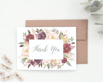 Bridal Shower. Shower Thank You. Wedding. Wedding Shower Thank You Cards. Thank You Card Pack. Wedding Shower. Floral Thank You. TY26