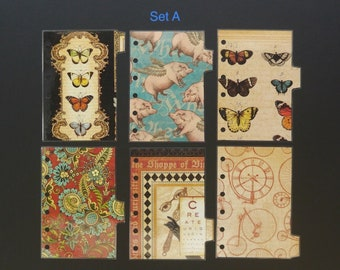 """Double sided laminated dividers - Pocket size - """"When pigs fly"""""""