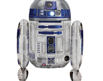 Star Wars Party, R2D2 Balloon, Star Wars Movie Party, Character Balloon, r2d2 Star Wars Party Favors, Star Wars Party Decor, Large Balloons