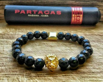 2018 Lion Collection  , Bead Bracelet , Onyx Stones , Summer Bracelet