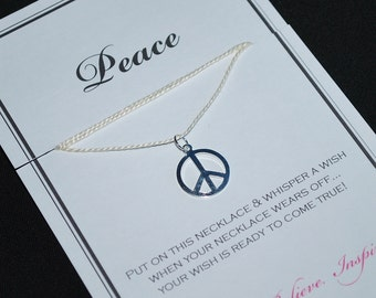 Peace Wish Necklace - Buy 3 Items, Get 1 Free
