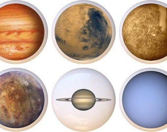 Set of 10 Solar System Planets Outer Space Ceramic Drawer Pull Cabinet Knobs