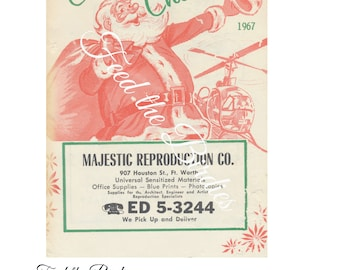 Vintage Santa Advertisement 1967 Christmas Ephemera Digital Download