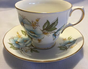 Vintage Queen Anne Teacup and Saucer