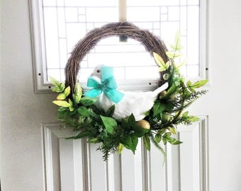 Easter Goose Wreath, Easter Wreath, Spring Wreath, Front Door Wreath, Spring Decor, Easter Decoration, Outdoor Wreath, Easter Egg Wreath