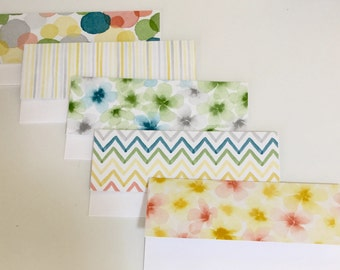 Money Envelopes with Note Cards
