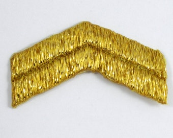 45mm Gold Corporal Rank Insignia #1376
