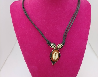 Tribal, ethnic cowrie shell necklace