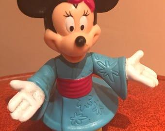 Minnie Mouse geisha Disney figurine plastic Epcot Center
