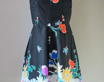 The Perfect Vintage 1970s Sundress w Amazing Floral Print - Orignial Tags Still Attached!