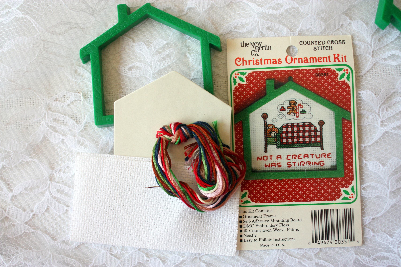 Mini Cross Stitch Kit, Christmas Ornament Kit, New Berlin Cross ...