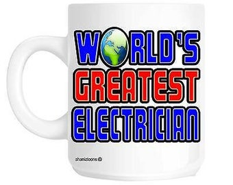 World's greatest electrician novelty gift mug