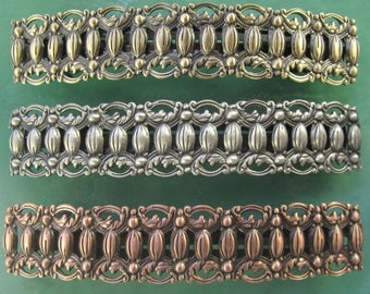 BIG HAIR French Barrette 100mm- Large Barrette- Filigree Barrette- Silver Brass Copper Barrette