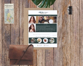 Elegant About Me Page Template-Digital-Instant download-photography about me page
