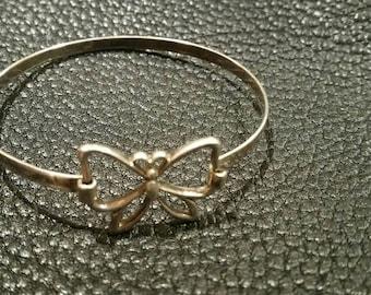 Vintage sterling silver tension bracelet