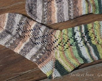 Cable Lace Socks