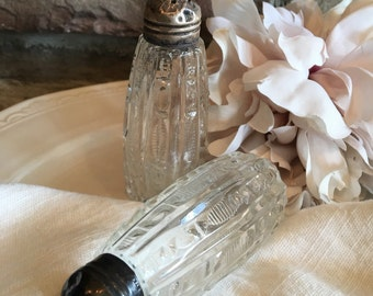 Sterling Salt & Pepper Shakers Vintage w/ Silver Screw Caps - #4862