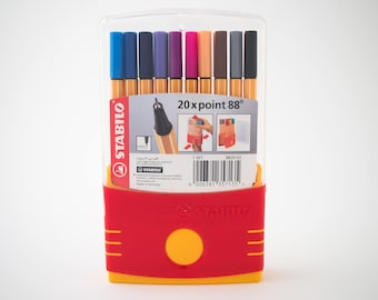 Stabilo Point 88 fineliner pens, set of 20 with case