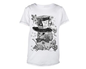 Clothes Tops T-Shirt Boys and Girls, Kids Baby Children cat Animal