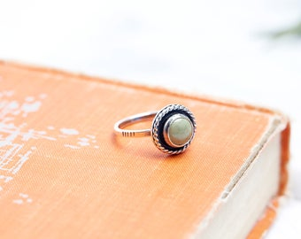 Turquoise Ring // Gemstone Ring // Sterling Silver // Made to Order