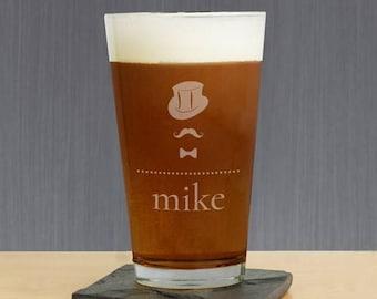 Engraved Groom Beer Glass