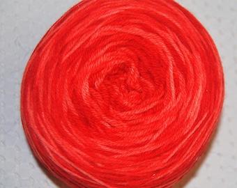 Sock Yarn, Fingering weight yarn, Sale Yarn, 3.65 oz., 435 Yards, Hand dyed, Salmon, Sale Price