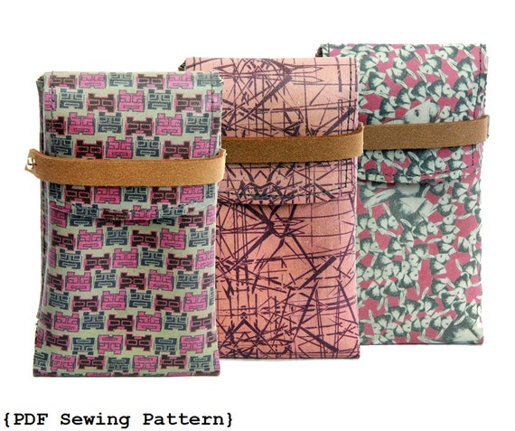 Phone Case Sewing Pattern - DIY Phone Case - Sewing Pattern for ...
