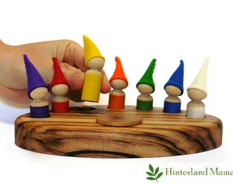 Waldorf Calendar - Waldorf Steiner  Waldorf inspired education - Rainbow Gnome COLOUR DAY Days Of The Week Calendar FREE Shipping Australia