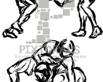 wrestling clipart etsy rh etsy com Wrestling Logos Designs clipart wrestling pictures