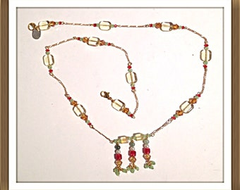 Handmade MWL multi color necklace. 0092