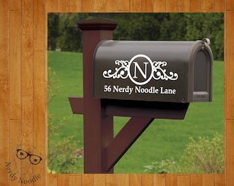 Mailbox Decal, Custom Mailbox Decal, Address Decal, Mailbox Numbers, Mailbox Monogram, Mailbox Stickers