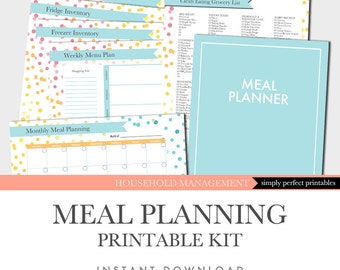 Meal Planning Printables Kit - Instant Download