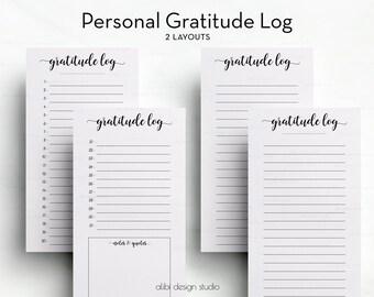 Gratitude Planner, Personal Planner, Gratitude Log, Gratitude Journal, Personal Gratitude, Resolutions, Personal Tracker, Personal Insert