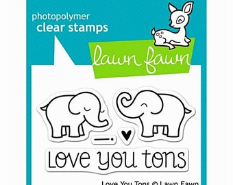 Lawn Fawn Photopolymer Stamp Set Love You Tons