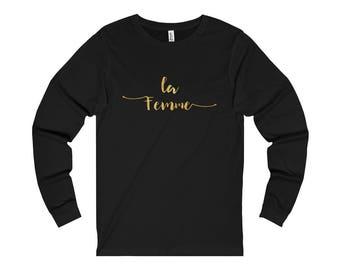 La Femme T-Shirt Long Sleeve Shirt Womens Mens