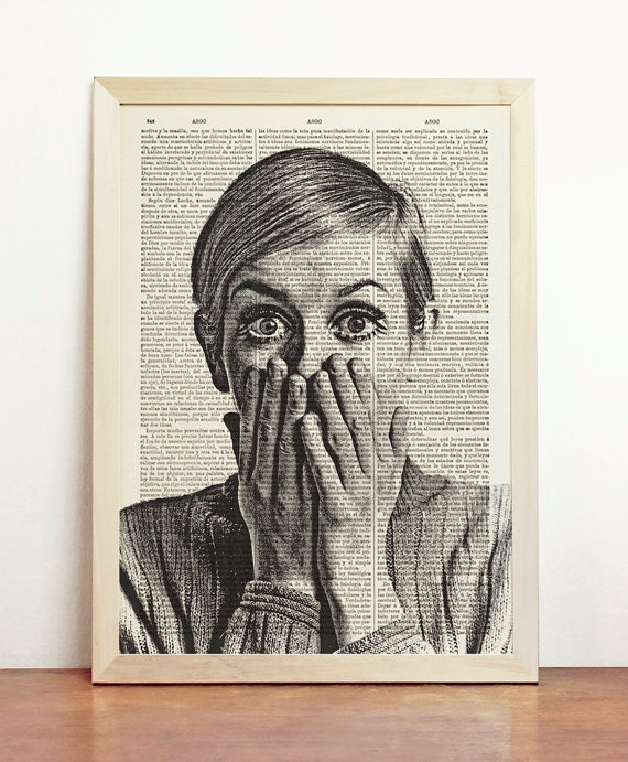 Awesome retro art 1960's Twiggy Poster 1960's decorating ideas shabby chic