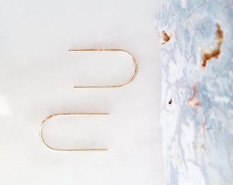 no. 629 - 14kt gold-filled simple curve earrings