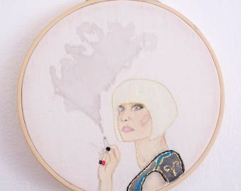 Diane Twin Peaks embroidery