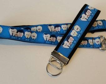 Dentist lanyard, badge holder or keychain, Dental Student Graduation gift, Dental Office Staff Gifts, Dental Gift