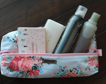 Olivia Collection - Large Costmetic & Toiletry Box Bag
